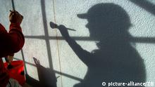 Shadow of a painter in Frankfurt (picture-alliance/ZB)