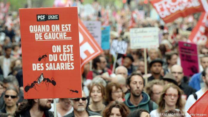 Frankreich Protest gegen die Regierung April 2014