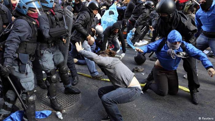 Ação policial dura em Roma