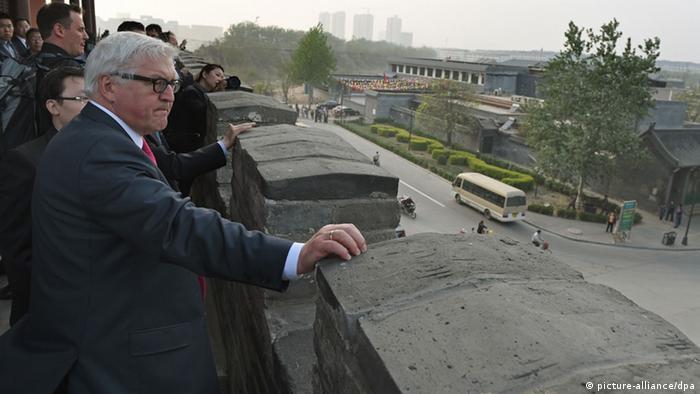 Bundesaußenminister Frank-Walter Steinmeier in China 13.4.