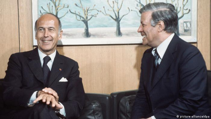 Schmidt y Giscard d'Estaing