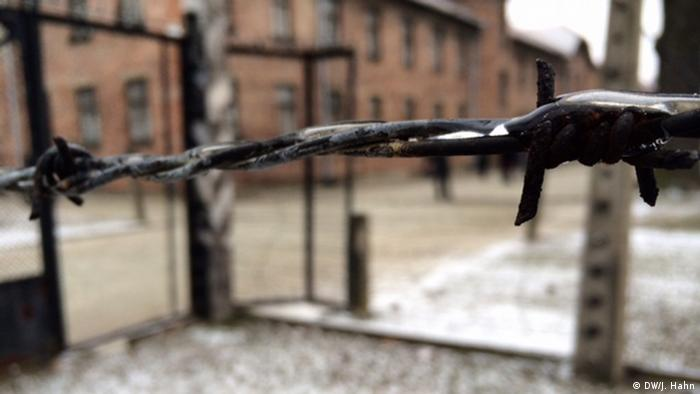 Barbed wire at Auschwitz (DW/J. Hahn)