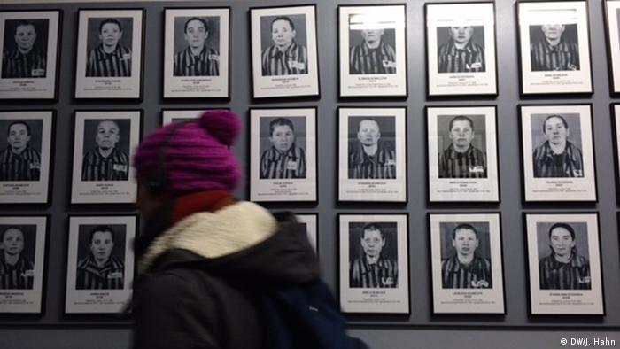 Fotografías de presos del campo de concentración de Auschwitz.