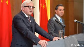 Frank-Walter Steinmeier China Wang Yi PK