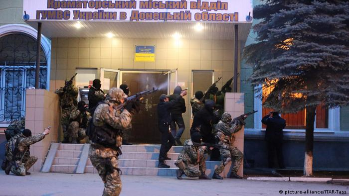 Штурм отделения милиции в Краматорске 13 апреля