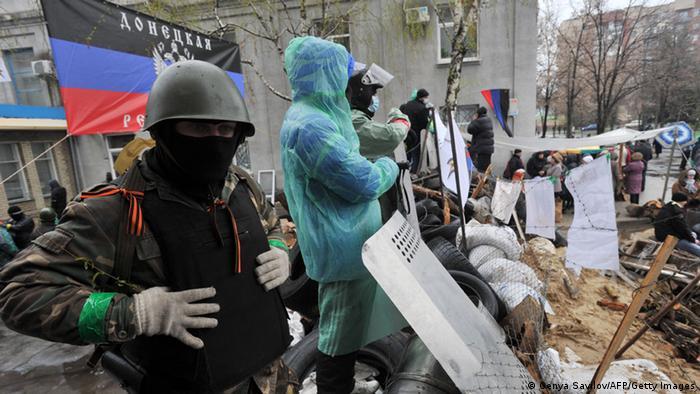 Украинские сепаратисты в Славянске