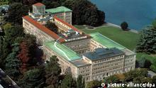 Luftaufnahme des Centre William Rappard, Hauptsitz der World Trade Organization, WTO, an der Rue de Lausanne 154, am Ufer des Genfersees, in Genf. (Undatierte Aufnahme). +++(c) dpa - Report+++