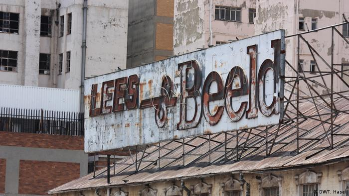 Old billboard (photo: DW/Thomas Hasel)
