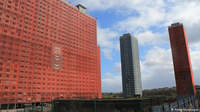The Red Road flats in Glasgow (Photo: Peter Geoghegan / DW)