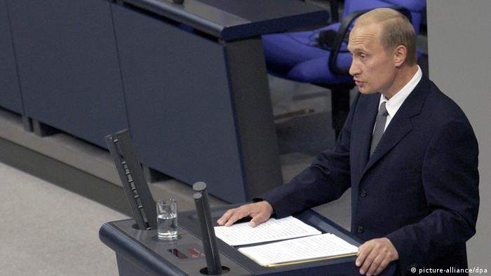 Putin Rede im Bundestag Archiv 2001 (picture-alliance/dpa)