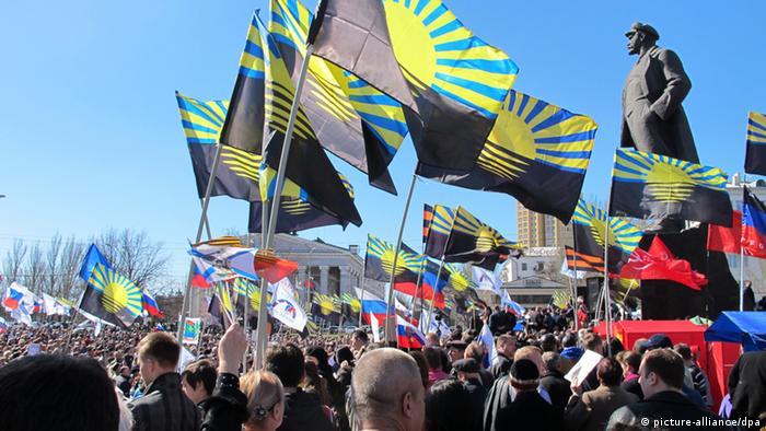 Prorussische Kundgebung in Donezk