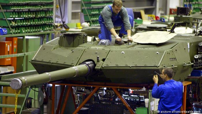 Rheinmetall-made Leopard tank