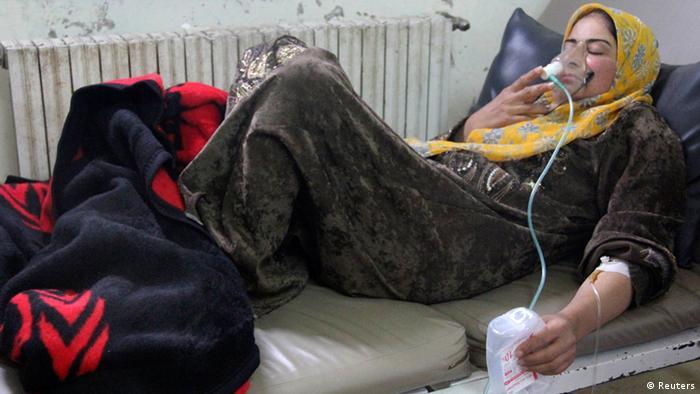 دهها نفر در پی استفاده ا ز گاز سمی در آوریل ۲۰۱۴ در سوریه آسیب دیدند