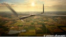 This undated image released by Titan Aerospace shows the company's Solara 50 aircraft. Facebook is in talks to buy Titan Aerospace, a maker of solar-powered drones, to step up its efforts to provide Internet access to remote parts of the world, according to reports released Tuesday, March 4, 2014. (AP Photo/Titan Aerospace) // eingestellt von se