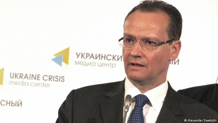 Голова комітету Бундестагу у справах ЄС Ґунтер Крихбаум під час відвідин Києва