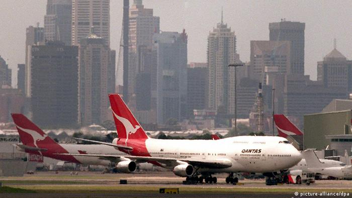 Flughafen Sydney Flugzeuge Qantas (picture-alliance/dpa)