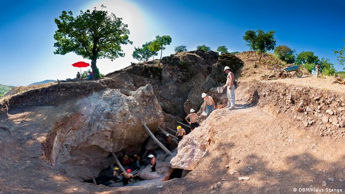Archaeologists at the Sakdrisi goldmine in Georgia