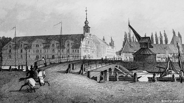 Люнебург на гравюре Густава Георга Ланге (Gustav Georg Lange)