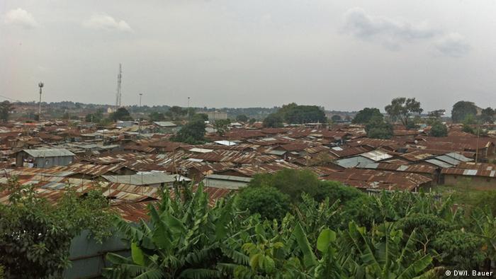 Blick über den Slum in Kibera in Nairobi