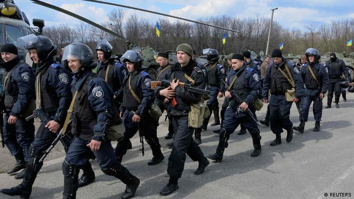 Ukraine Ostukraine Krise ukrainische Armee 15.4.2014