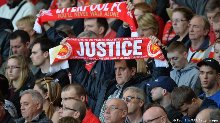 Liverpool Anfield Gedenken der Opfer Hillsborough