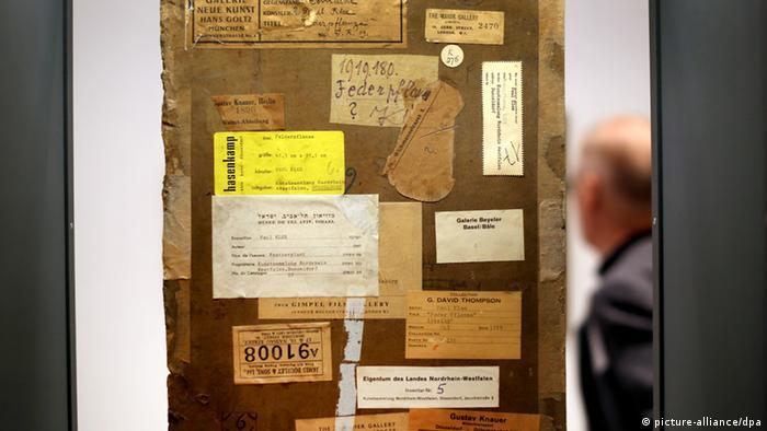 Rückseite des Bildes Federpflanze von Paul Klee