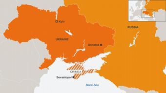 15.04.2014 DW online Karte Ukraine Russland Donetsk eng
