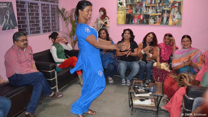 Transgenders belonging to Zeenat Club, an exclusive cub for hijras in the capital, rejoice and break out into dance