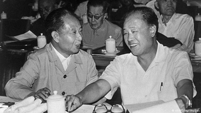 Bildergalerie Hu Yaobang mit Zhao Ziyang Archiv 1982