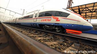 Поезд Сапсан производства немецкого концерна Siemens. Такие поезда могут пойти и по ВСМ до Казани
