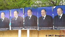Bouteflika-Wahlplakate in Algier Place and date: Algiers, Algeria , April ,13, 2014. Copy right/photographer: DW/Toufik Bougaada