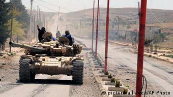Tenk Asadovih trupa u Maalouli