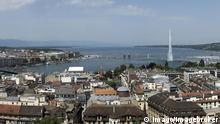 Panorama von Genf mit Blick auf den Genfersee