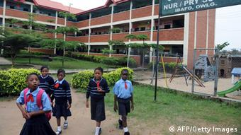 Children outside a school in Nigeria