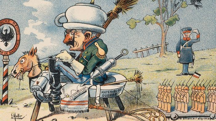 Karikatur 1. Weltkrieg Wilhelm II William departs for the war