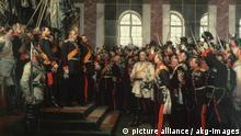 Pintura de Anton von Werner que retrata a proclamação do Império Alemão em 1871