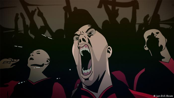 A still from the documentary I Love Hooligans by Jan-Dirk Bouw, Copyright: Jan-Dirk Bouw