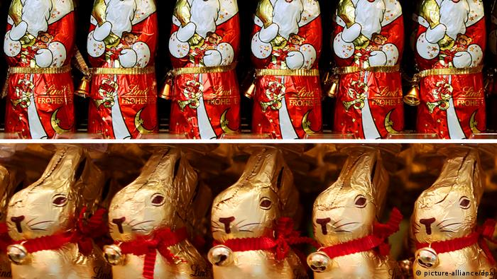 Chocolate Easter bunnies and Santas (picture-alliance/dpa)