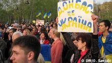 Ukraine Pro-ukrainische Proteste in Donetsk