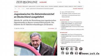 Mada ne toliko kao o slučaju Perković, i o izručenju Mustača pišu i njemački mediji - izdanje Zeit-Online