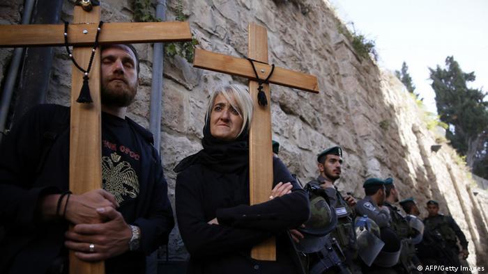 Karfreitagsprozession in Jerusalem 18.04.2014 (Foto: afp)
