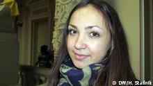 Flüchtlinge aus Krim, Studentin Olena Shinkaruk Ort: Lemberg, Ukraine Datum: April 2014 (C) DW, Halyna Stadnik