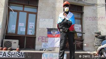 Ukraine pro-Russian separatists in Donetsk
