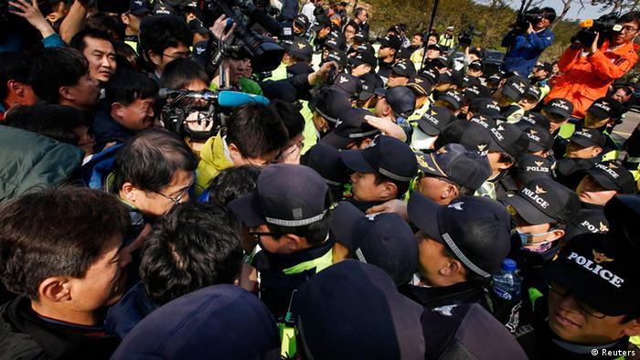 Südkorea Fährunglück Sewol Angehörige Protest