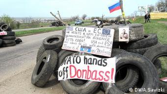 Ukraine Separatisten Blockposten