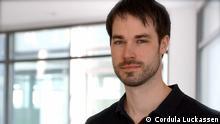 Auf dem Bild: Thomas Klein, Sportredakteur bei der Deutschen Welle. Foto: Cordula Luckassen am 20.4.2014 in Bonn.