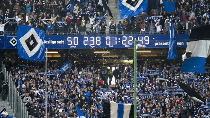 Die ewige Bundesliga-Uhr im Stadion von Hamburg