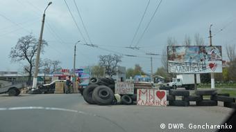 Straßensperre der Separatisten in Slowjansk