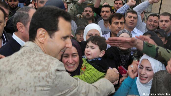 Syrien Präsident Bashar Assad Besuch in Maaloula