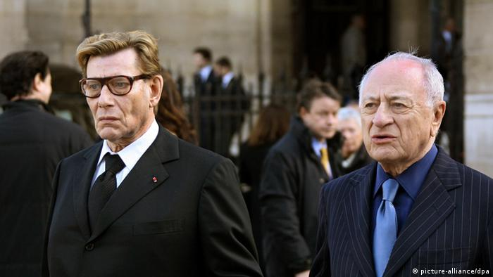 Yves Saint Laurent with partner Pierre Berge (picture-alliance/dpa)